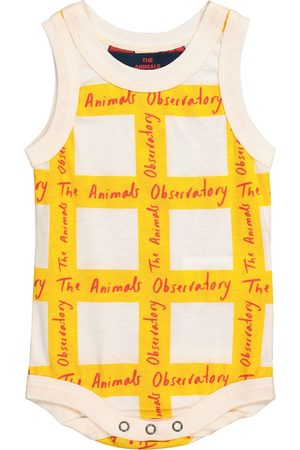 The Animals Observatory Bodies - Baby Turtle checked cotton bodysuit