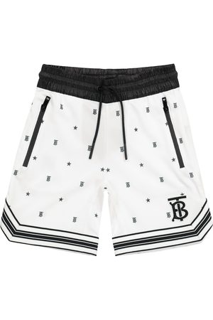 Burberry Kids Logo technical-jersey shorts