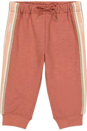 Chloé Kids Bukser - Baby cotton-trimmed trackpants