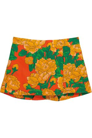 Mini Rodini Piger Shorts - Peonies floral cotton-poplin shorts