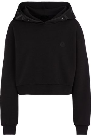 Moncler Cotton-blend cropped hoodie