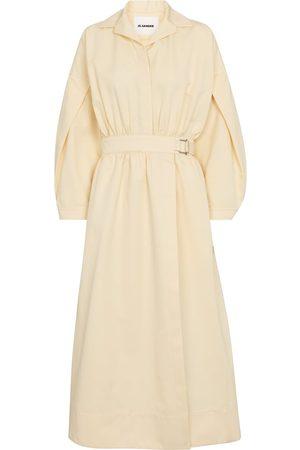 Jil Sander Kvinder Midikjoler - Cotton and silk midi dress
