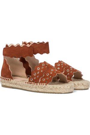 Chloé Kids Kvinder Espadrillos - Lauren suede espadrille sandals