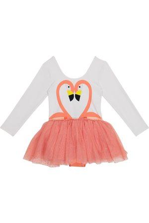 Stella McCartney Kids Flamingo jersey and tulle dress