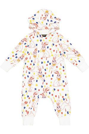 Mini Rodini Onesies - Baby Mr Rabbit cotton-jersey onesie