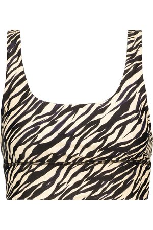 The Upside Nadiya zebra-print sports bra
