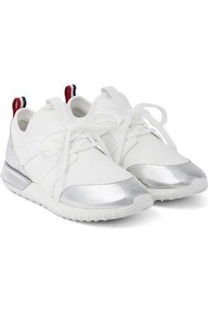 Moncler Kvinder Sneakers - Meline leather-trimmed sneakers