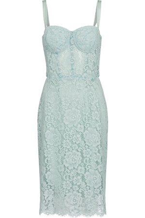 Dolce & Gabbana Kvinder Midikjoler - Cotton-blend lace midi dress