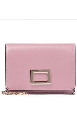 Roger Vivier Kvinder Clutches - Très Vivier Mini leather clutch