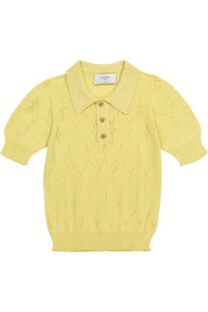 PAADE Piger Poloer - Pointelle cotton knit polo shirt