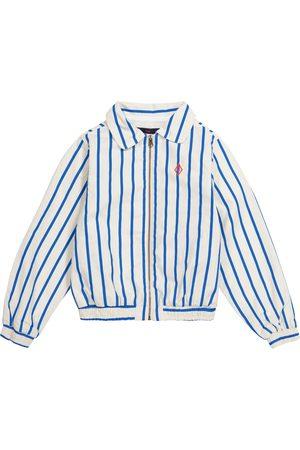 The Animals Observatory Piger Jakker - Tiger striped cotton jacket