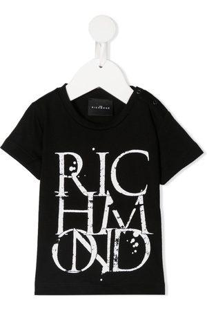 John Richmond Junior T-shirt med rund hals og logo