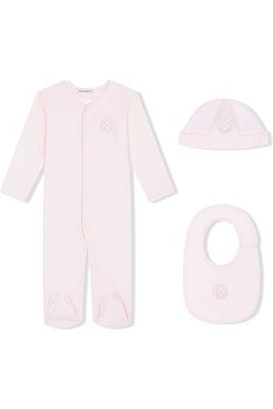 Dolce & Gabbana Kids Pyjamassæt i tre dele med DG laurel-mærke