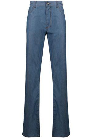 Canali Jeans med lige ben og mellemhøj talje