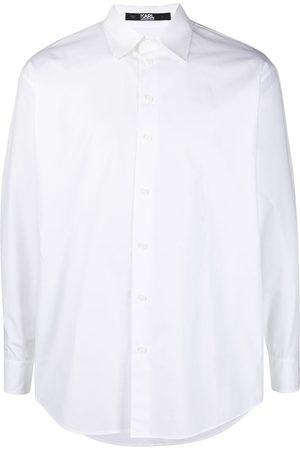 Karl Lagerfeld Skjorte i poplin med logotryk