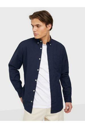 Jack & Jones Jjeoxford Shirt L/S S21 Noos Skjorter Navy Blazer Slim Fit