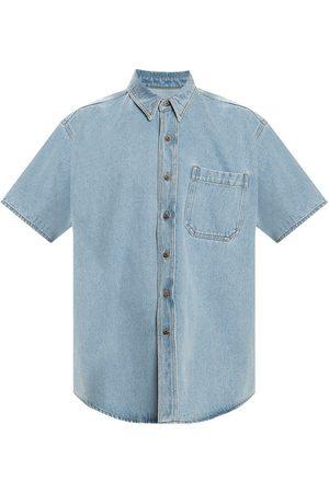 Nanushka Mænd Denimskjorter - Short-sleeved denim shirt