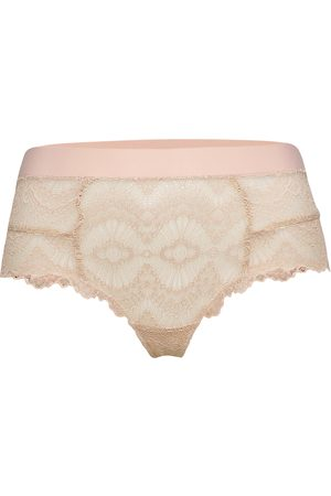 Understatement Underwear Kvinder Briefs - Naked Lace Highwaist String Lingerie Panties High Waisted Panties Lyserød