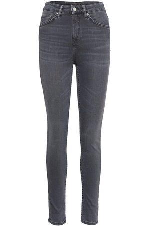 Nudie Jeans Kvinder Slim - Hightop Tilde Slim Jeans Grå