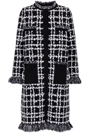 Oscar de la Renta Checked bouclé tweed coat