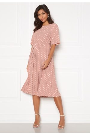 Happy Holly Eloise pleated dress Pink / Dotted 32/34