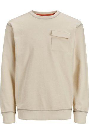 Jack & Jones Mænd Sweatshirts - American Fit Brystlomme Sweatshirt Mænd White