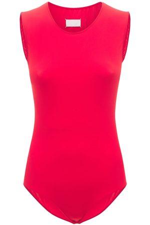 Maison Margiela Kvinder Bodies - Technical Jersey Sleeveless Bodysuit