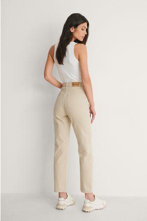 NA-KD Kvinder Straight - Økologiske Højtaljede Jeans Med Lige Ben