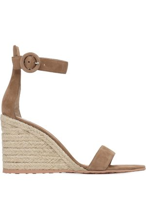 Gianvito Rossi 85mm Suede Espadrille Wedges