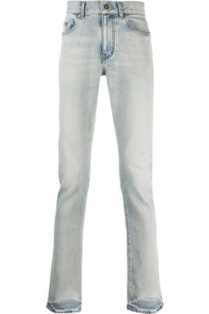 Saint Laurent Jeans med lige ben og falmet effekt