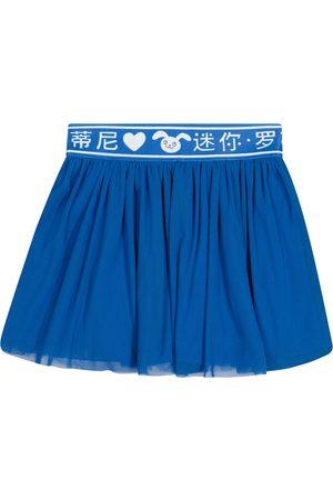 Mini Rodini Rabbit cotton tulle and jersey skirt