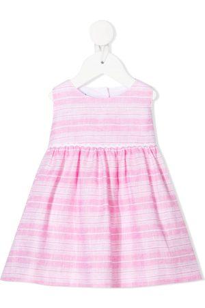 SIOLA Stribet kjole med bindelukning
