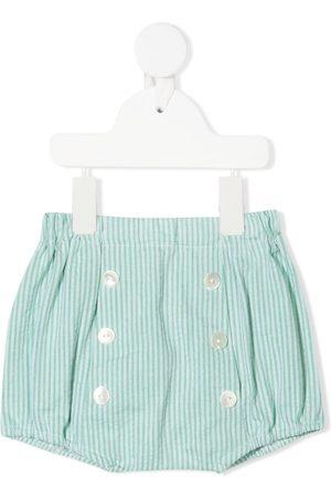 SIOLA Stribede shorts med knapper