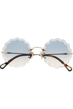 Chloé Eyewear Runde Rosie solbriller med metal-stel