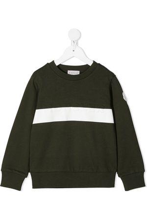 Moncler Enfant Sweatshirt i bomuld med præget logo