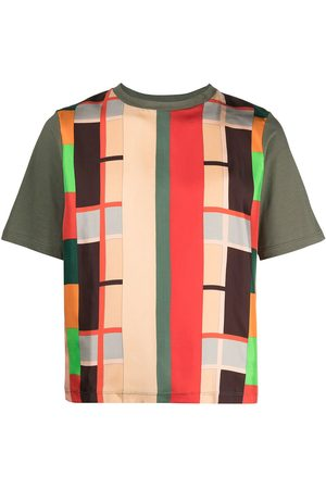Pierre-Louis Mascia Geometric-print short-sleeved T-shirt