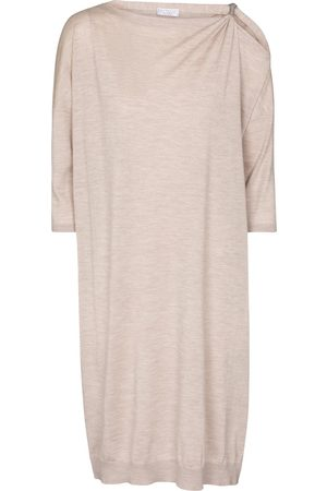 Brunello Cucinelli Kvinder Midikjoler - Cashmere and silk sweater dress