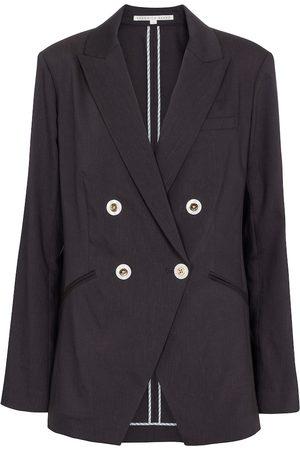 Veronica Beard Kvinder Blazere - Nisha linen and wool-blend blazer