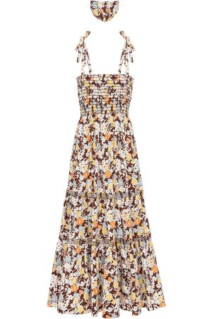 Tory Burch Kvinder Maxikjoler - Floral cotton-blend maxi dress