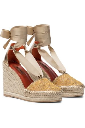Missoni Knit wedge espadrilles