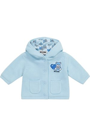 Moschino Kids Cardigans - Baby hooded cotton cardigan
