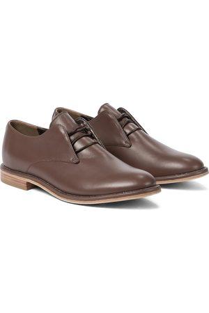 Brunello Cucinelli Embellished leather Derby shoes