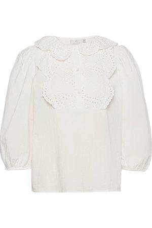 Kaffe Kvinder Kortærmede - Kacalista Blouse Blouses Short-sleeved Hvid