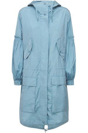 Max Mara Tech & Silk Taffeta Parka Hooded Coat
