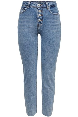Only Onlemily Life Hw Cropped Straight Fit Jeans Kvinder