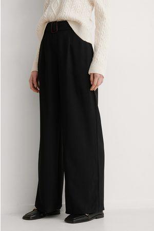 Trendyol Kvinder Kassebukser - Bukser Med Vide Ben