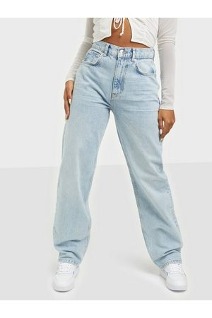 Gina Tricot 90s High Waist Jeans Straight fit Sky Blue
