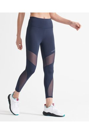 Superdry Kvinder Tights - Sport 7/8 Training leggings med mesh