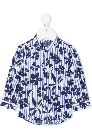 adidas Drenge Langærmede - Skjorte med blomstertryk