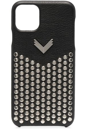 adidas IPhone 11 Pro Max cover i læder med nitter